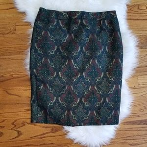 Talbots Cotton & Silk Blend Pencil Skirt size 10